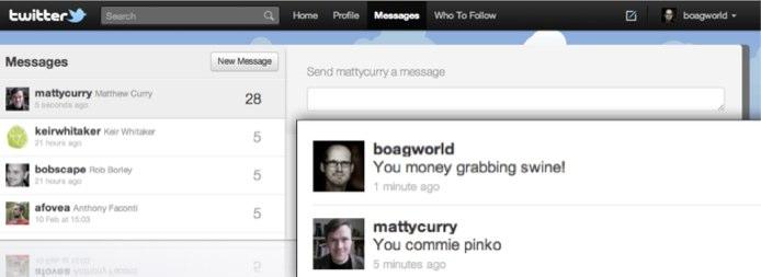 Argument over twitter between client and web designer