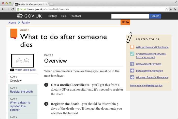 Gov.uk website