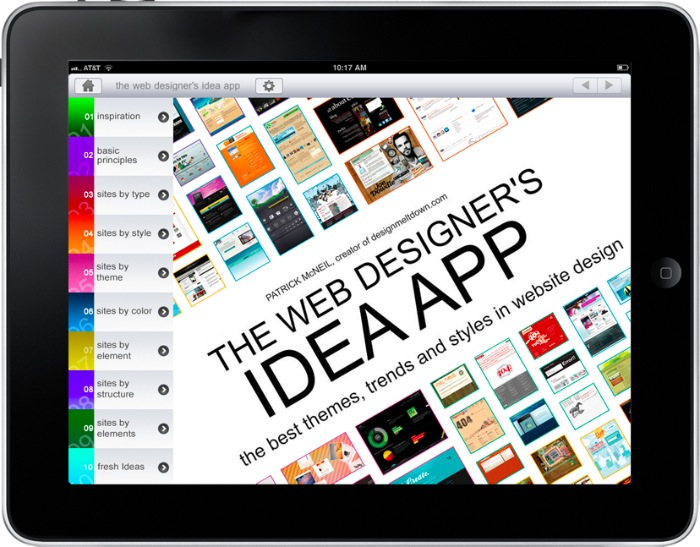 The web designers Idea iPad app