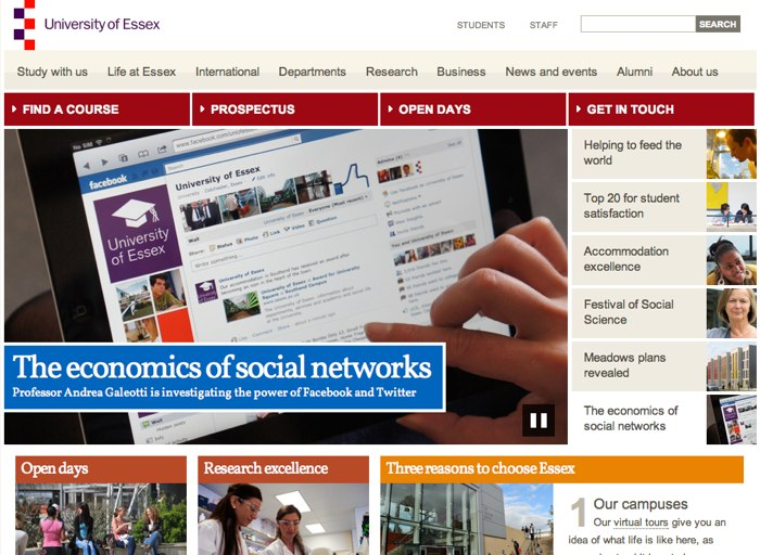 The University of Essex Homepage