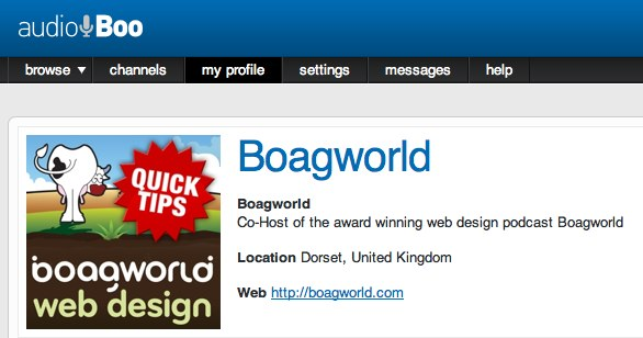 Boagworld Audio Tips