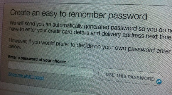 Create an easy to remember password