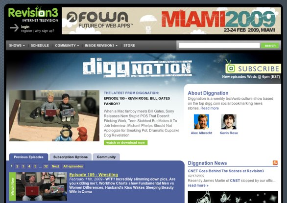 Diggnation Homepage