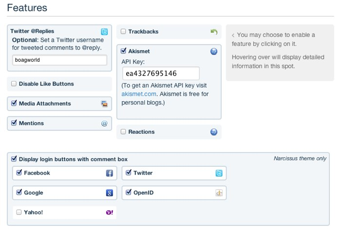 Disqus social media options