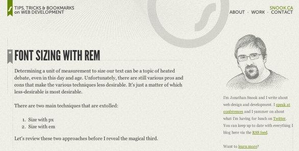 Font sizing with REM by Jonathan Snook