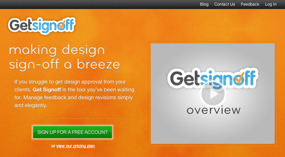 Get Sign Off Homepage