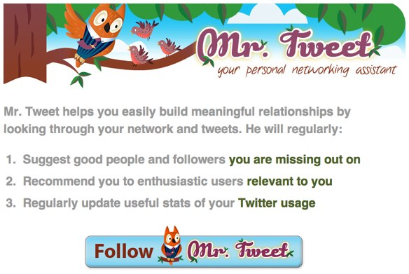 MrTweet homepage