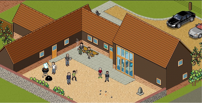 The pixel art on the new Barn website