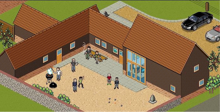 The pixel art on the new Barn website