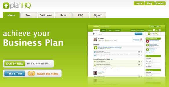 PlanHQ homepage