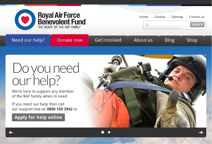 RAFBF website