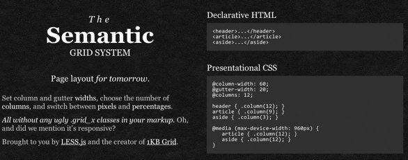 Semantic Grid System Website