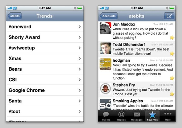 Tweetie Screenshots