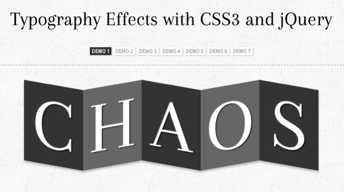typography effects with css3
