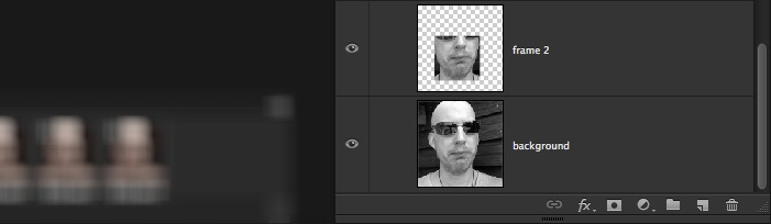 Photoshop layers showing multple frames