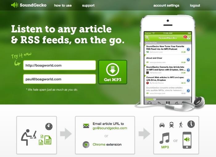 SoundGecko Website