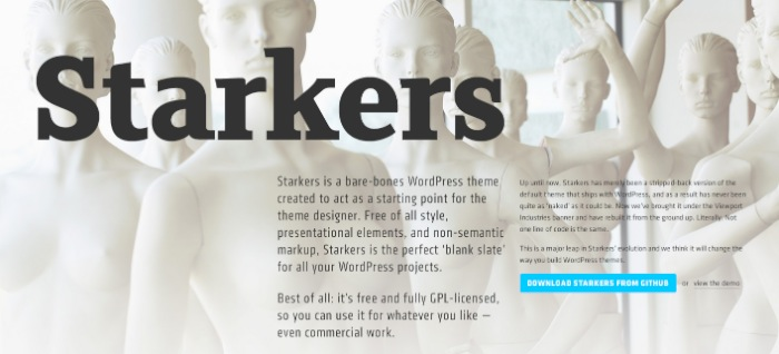 Screenshot of the Starkers website