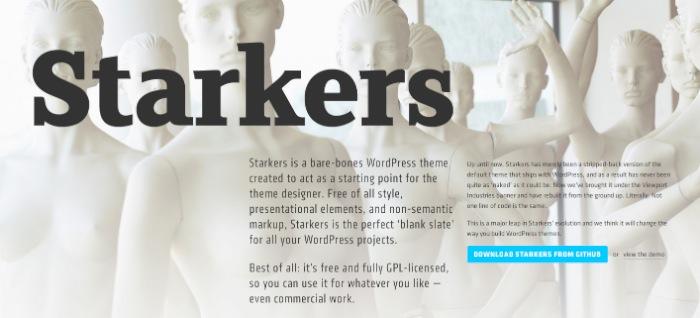 Screenshot of the Starkers website