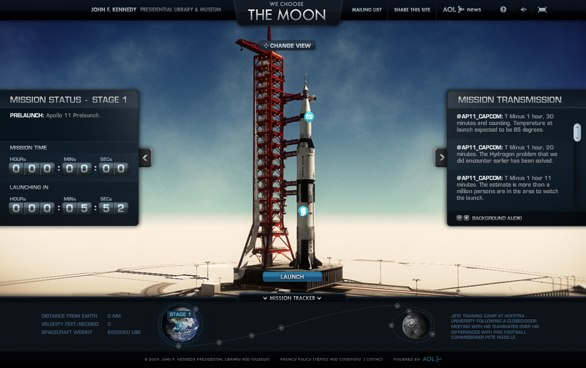 We choose the moon website