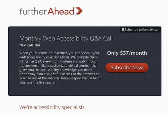 Derek featherstone's monthly accessibility review