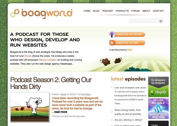 Alt boagworld.com homepage