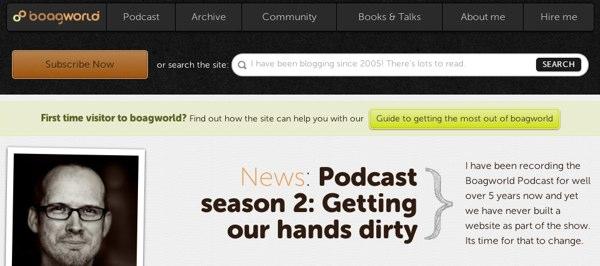 The search box on boagworld.com