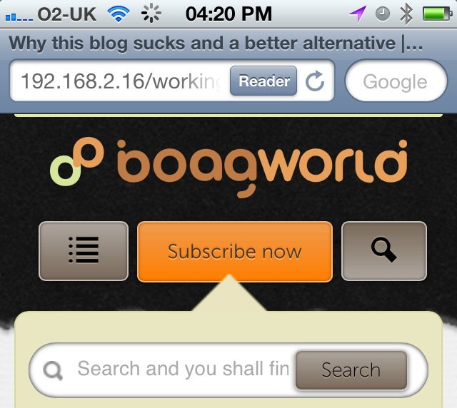 The new mobile boagworld version currently under construction