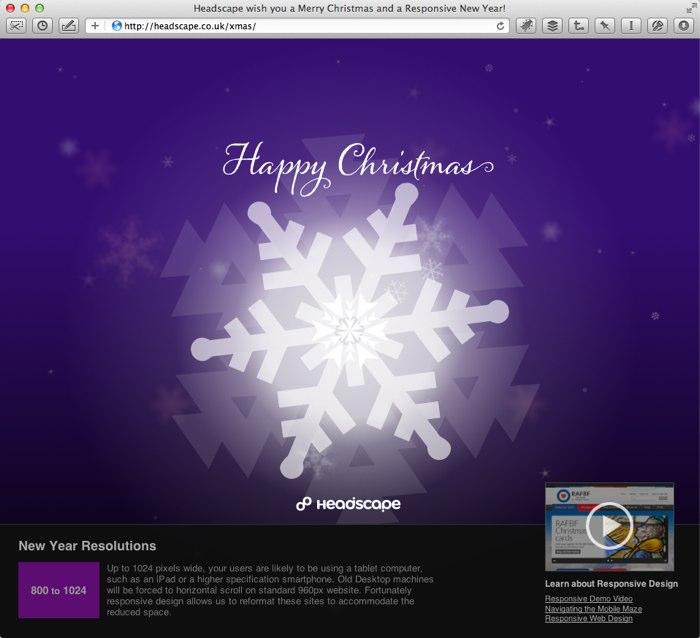 Headscape Christmas Card