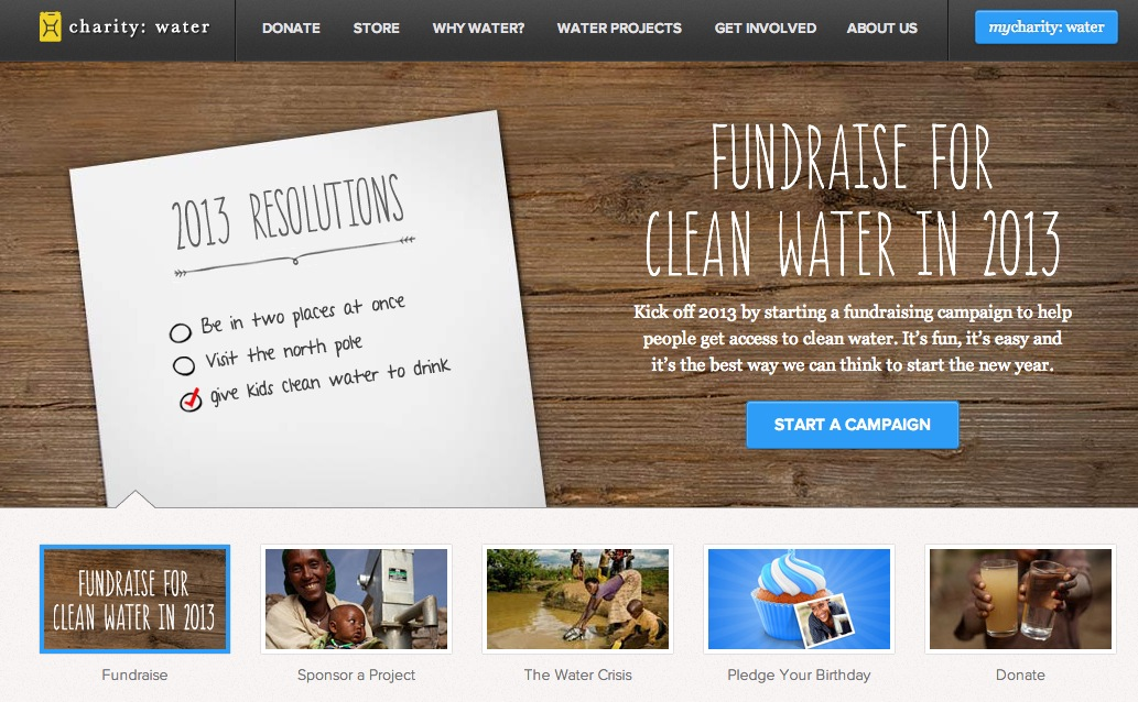Charity Water followup email