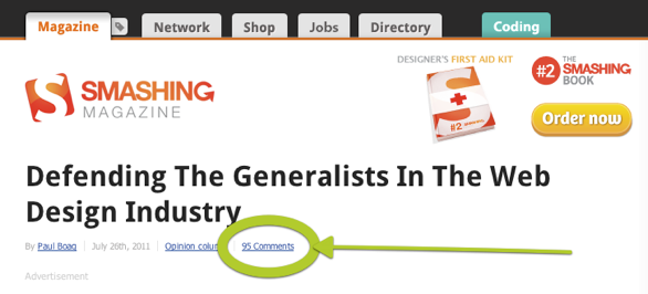 Defending the generalist post with it 95 comments