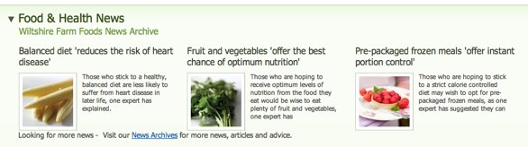 Food and health news expanded