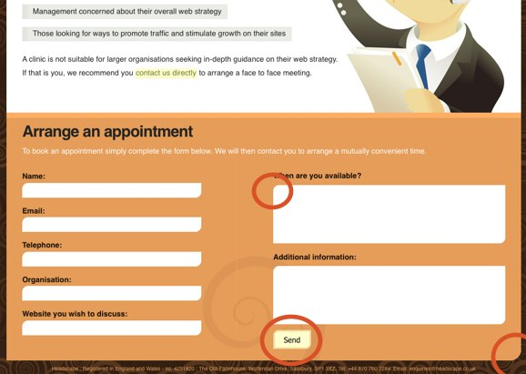 Consultancy Clinic Website in Firefox