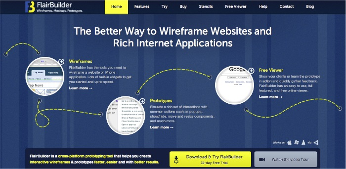 Flairbuilder.com homepage