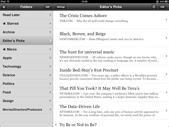 instapaper for the iPad