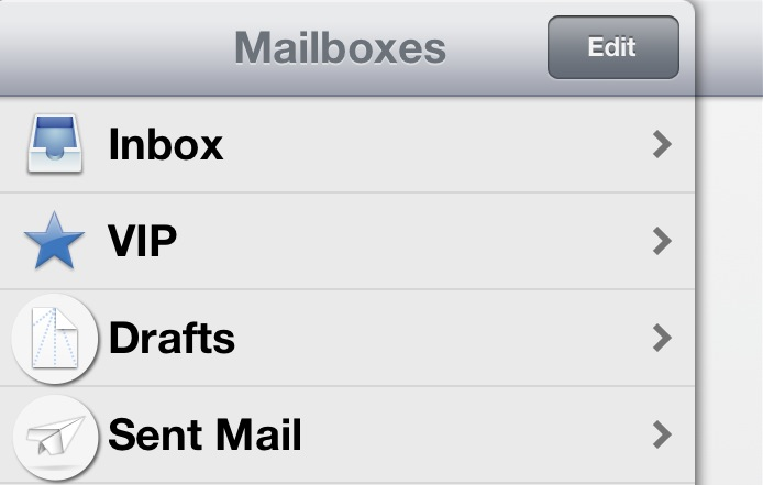 iOS mail icons