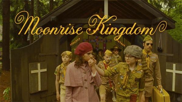 Screenshot of Jessica's typography in Moonrise Kingdom trailer