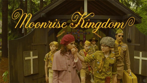 Screenshot of Jessica's typography in Moonrise Kingdom trailer