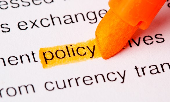 Image of the word policy being highlighted with pen