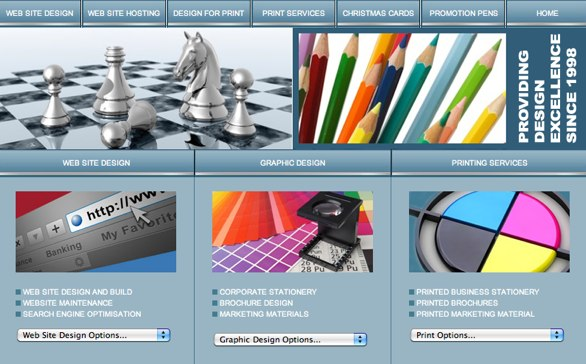 A print design website that offers web design too
