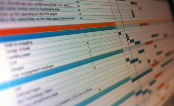 Photo of our project application that tracks what everybody is working on.