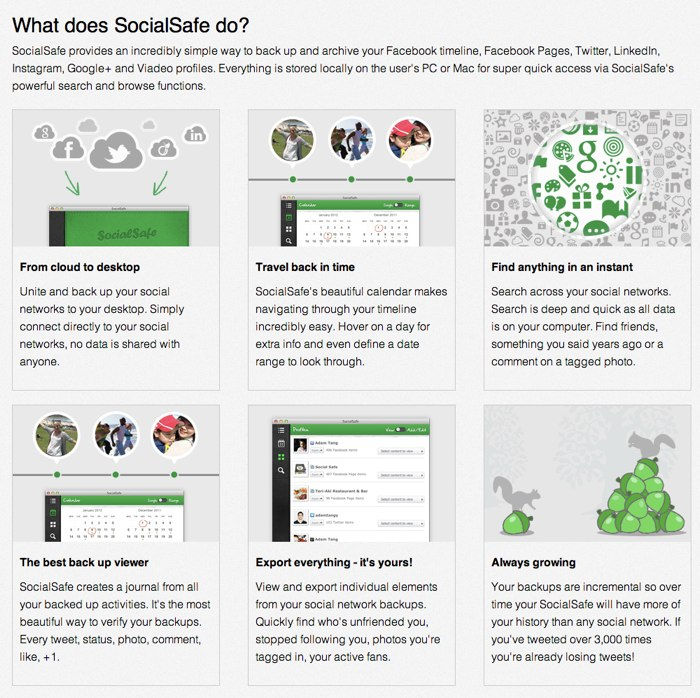 SocialSafe website