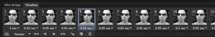 Photoshop timeline