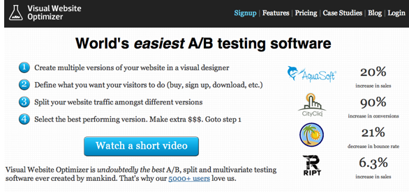 visual website optimiser