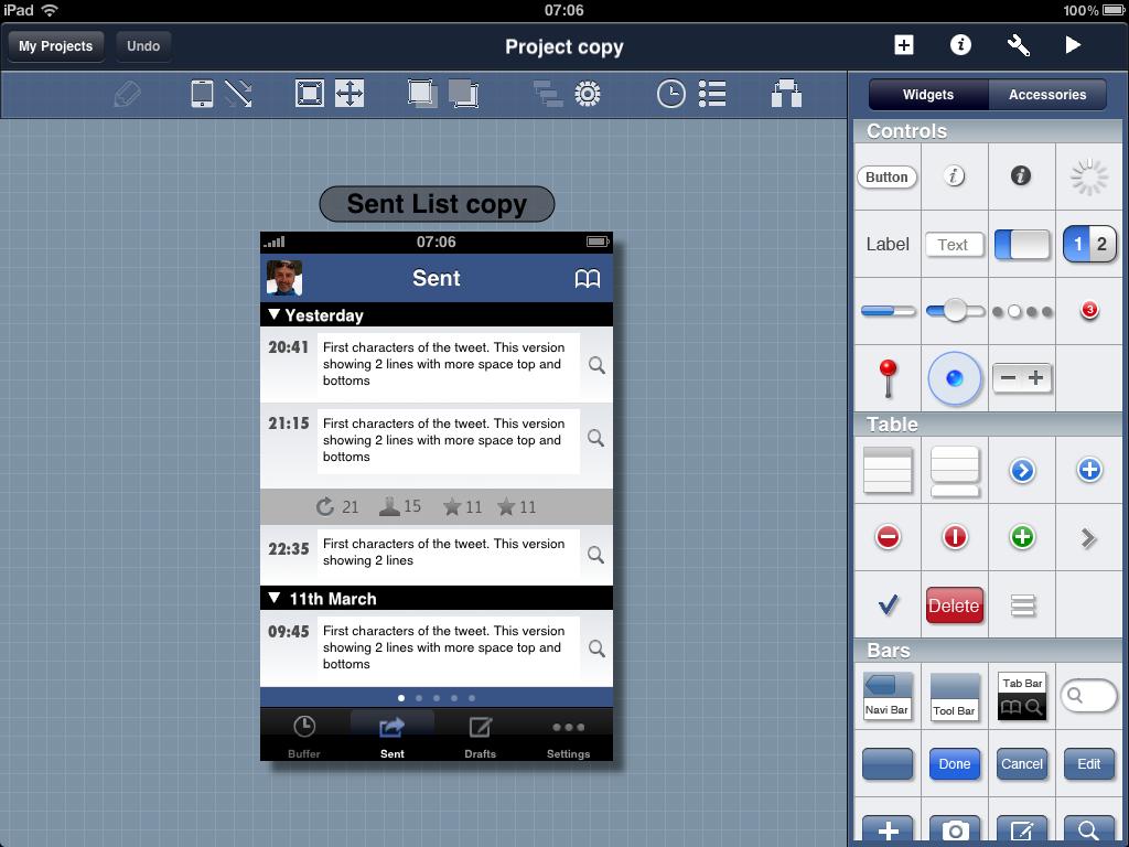 Blueprint for the iPad
