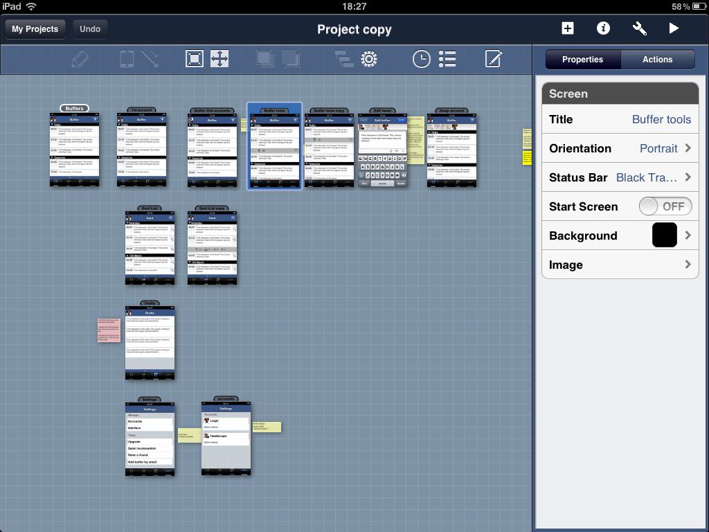 Blueprint Map Screen