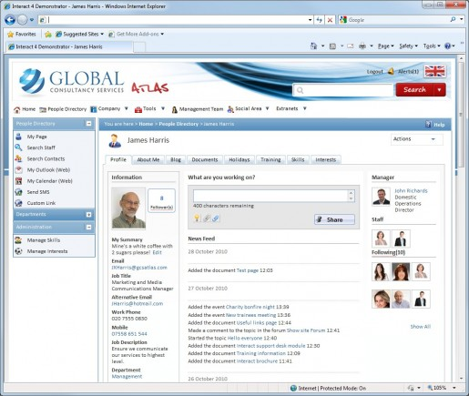 Example Intranet