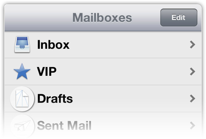 iOS Mail Origami