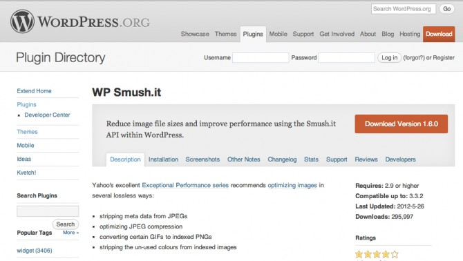 Smush.it for WordPress