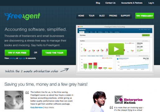 Freeagent website