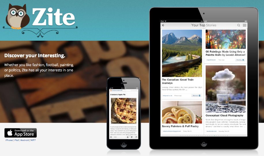 Zite Homepage